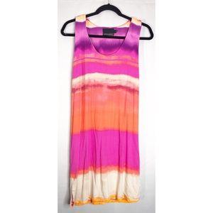 Cynthia rocket pink orange tie dye L dress